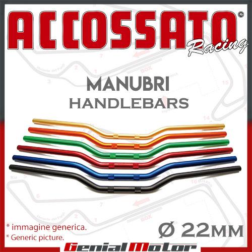 Manillar Accossato moto 22mm Aluminio para Ducati Monster 900 2001 01 HB170