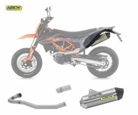 Scarico Completo Kat Arrow Race-tech Carbon Cap Alluminio Ktm 690 Smc R 2021