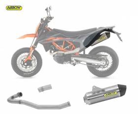 Scarico Completo Kat Arrow Race-tech Carbon Cap Titanio Ktm 690 Smc R 2021