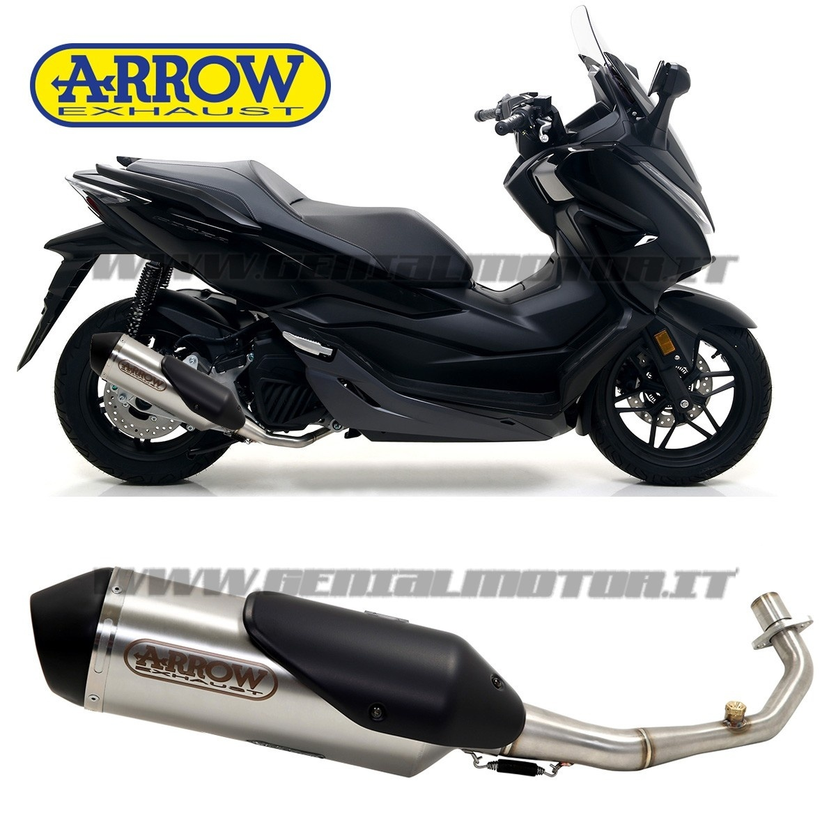 Details about Exhaust Arrow Approved Urban Steel Honda Forza 125 2019 19