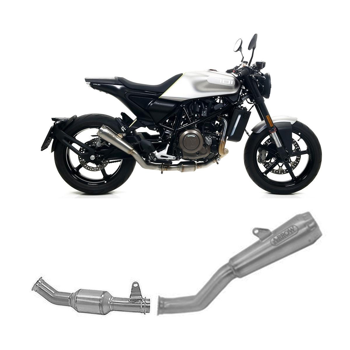 71703MI + 71891PR Exhaust System Arrow Titan Pro Race Tail Pipe Titan Husqvarna Vitpilen 701 2019 > 2020