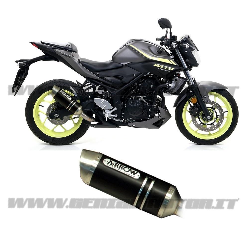 71831AON Exhaust Arrow Street Thunder Alu Black Yamaha Mt-03 2016 > 2020