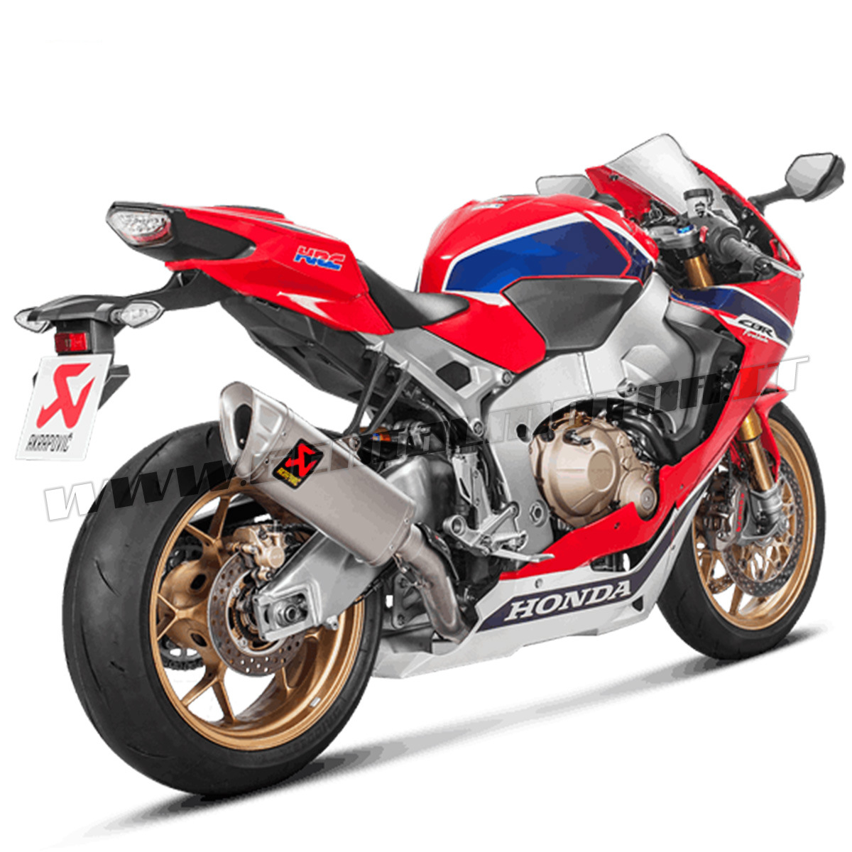 Full System Exhaust Titanium Akrapovic Racing HONDA CBR 1000 RR ABS 2017 > 2019