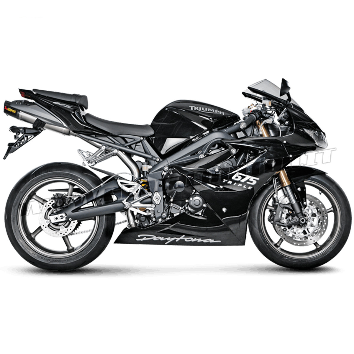 S-T675SO3-HACT Exhaust Titanium Approved Muffler Akrapovic Triumph DAYTONA  675 R 2011 > 2012