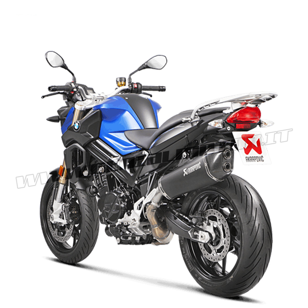 Details About Exhaust Titanium Approved Muffler Akrapovic For Bmw F800r 2017 2019