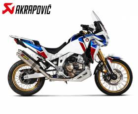 Scarico completo Racing Akrapovic in Titanio e collettori in Acciaio nox per HONDA CRF1100L Africa Twin Adventure sports 2020