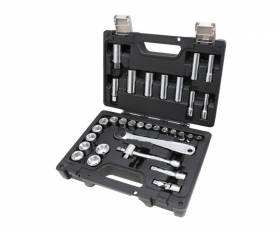 BETA set of 28 hex sockets and 5 accessories, in plastic case