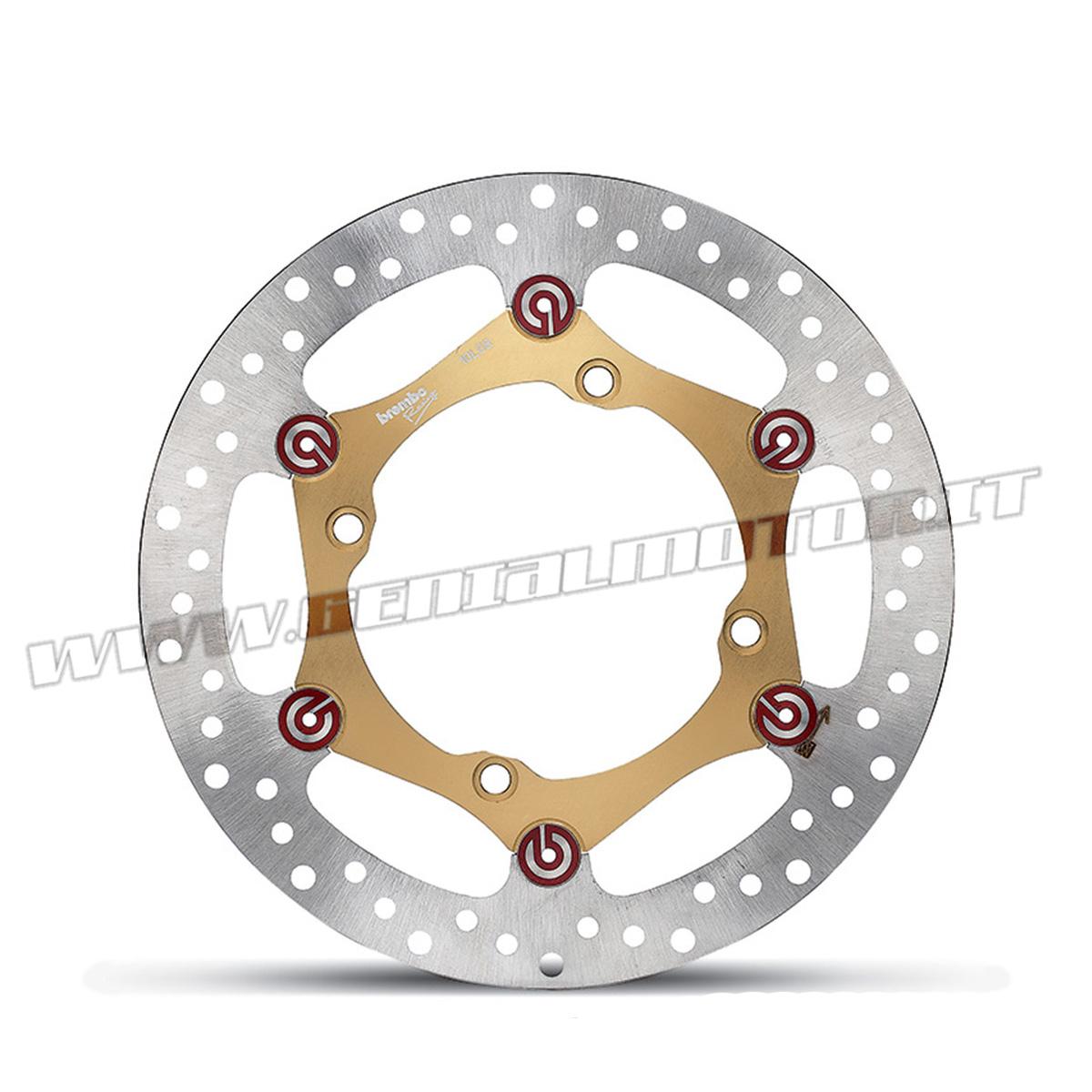 122B06927 Kit Brake Brembo Disc Pad Bracket Oversize Mx / Enduro Kawasaki Klx R 450