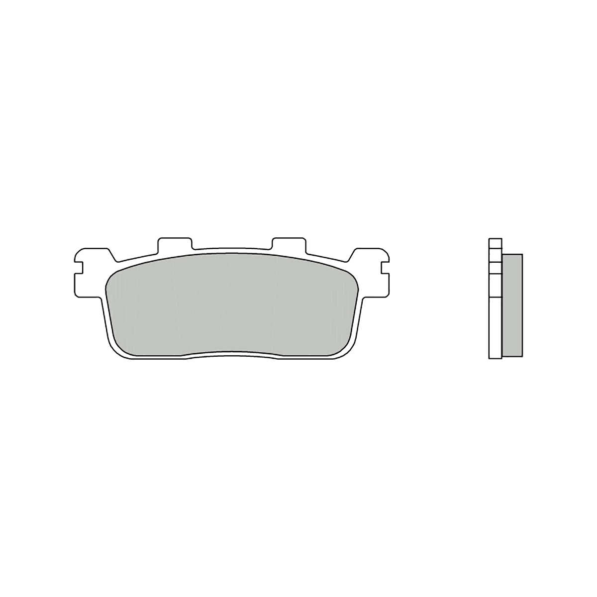 Rear Brembo CC Brake Pads for Kymco PEOPLE S 200 2005 > 2007