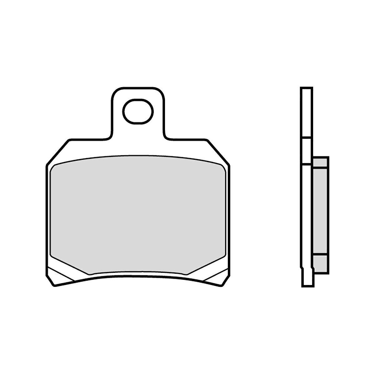 07BB20CC Pastillas Brembo Freno Posterior 07BB20CC para Ktm SUPER DUKE R 1290 2014 > 2020