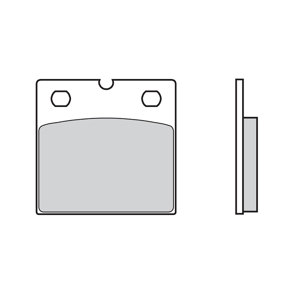 Vorderen Brembo 07 Bremsbelage fur Bmw R 65/1 650 1986 > 1992