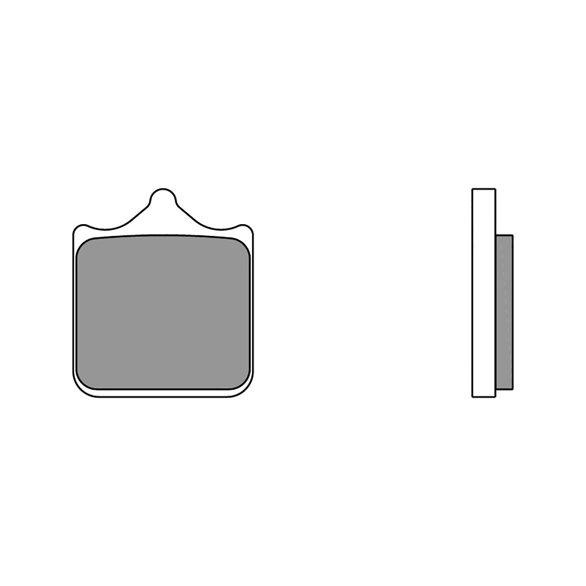 07BB33LA Pastillas Brembo Freno Delantero 07BB33LA para Ktm SMC R ABS 690 2014 > 2020