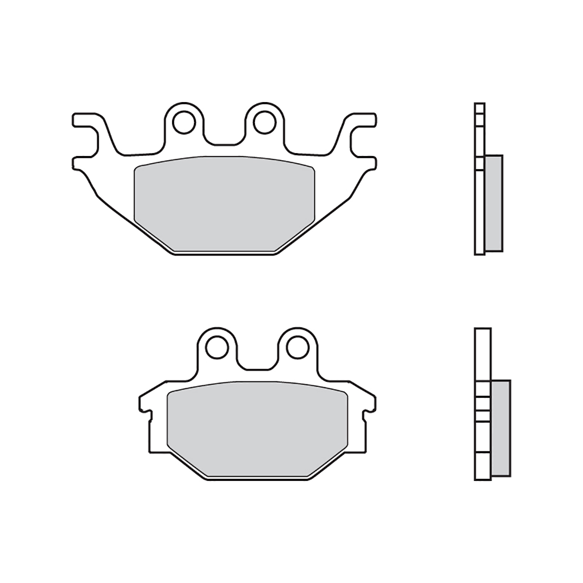 Front Brembo SD Brake Pads for Kymco URBAN QUAD 250 2006 > 2008
