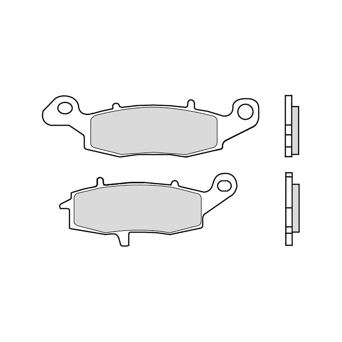 07KA18SP Pastiglie Brembo Freno Ant 07KA18.SP Kawasaki ZR ZEPHYR right cali750 1996 1998