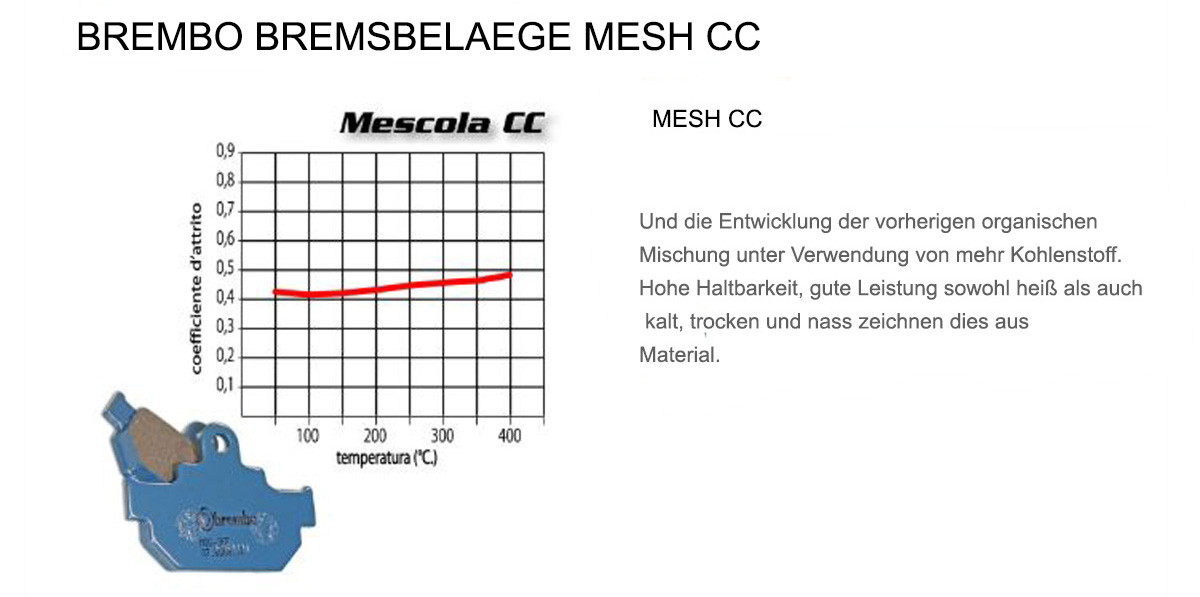 Vorderen Brembo CC Bremsbelage fur Tgb 101 S 90 1999 > 2001