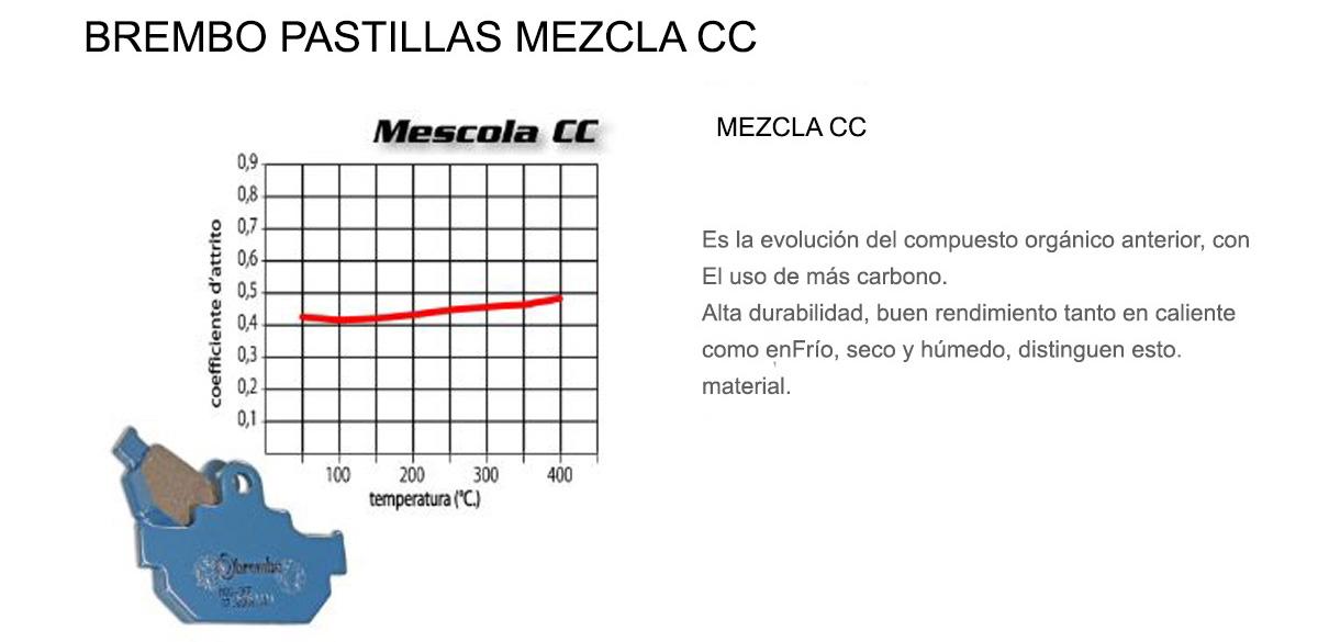 Pastillas Brembo Freno Posterior 07BB02CC para Ktm RC 250 2015 > 2017