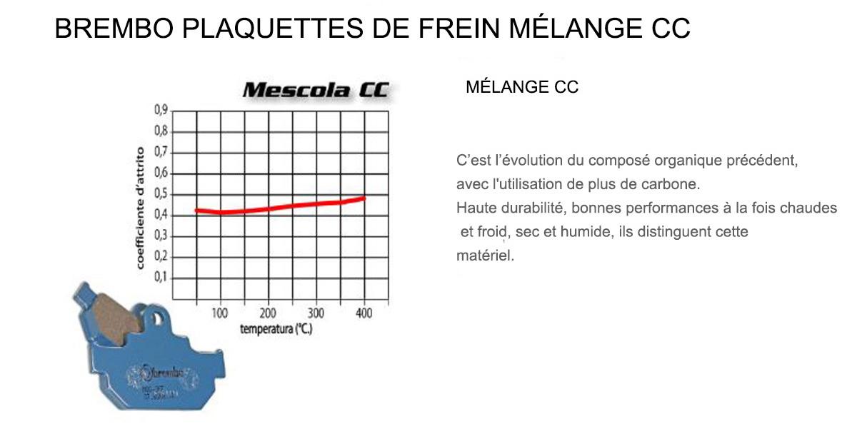 Plaquettes Brembo Frein Arriere CC pour Aeon URBAN 125 2011 > 2013