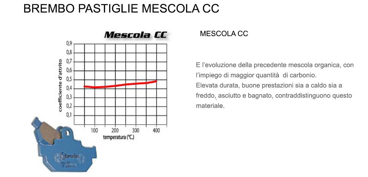 Pastiglie Brembo Freno Posteriori 07098.CC per Kymco XCITING 400I ABS 400 2016 > 2018