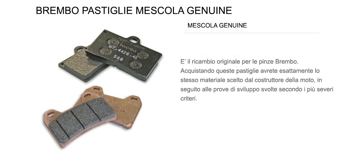 Pastiglie Brembo Freno Anteriori 07GR59.15 per Bmw R 75/7 750 1976 > 1977