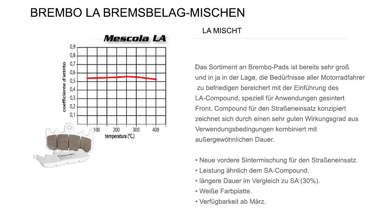 Vorderen Brembo LA Bremsbelage fur Tm SMR F 400 2002 > 2004