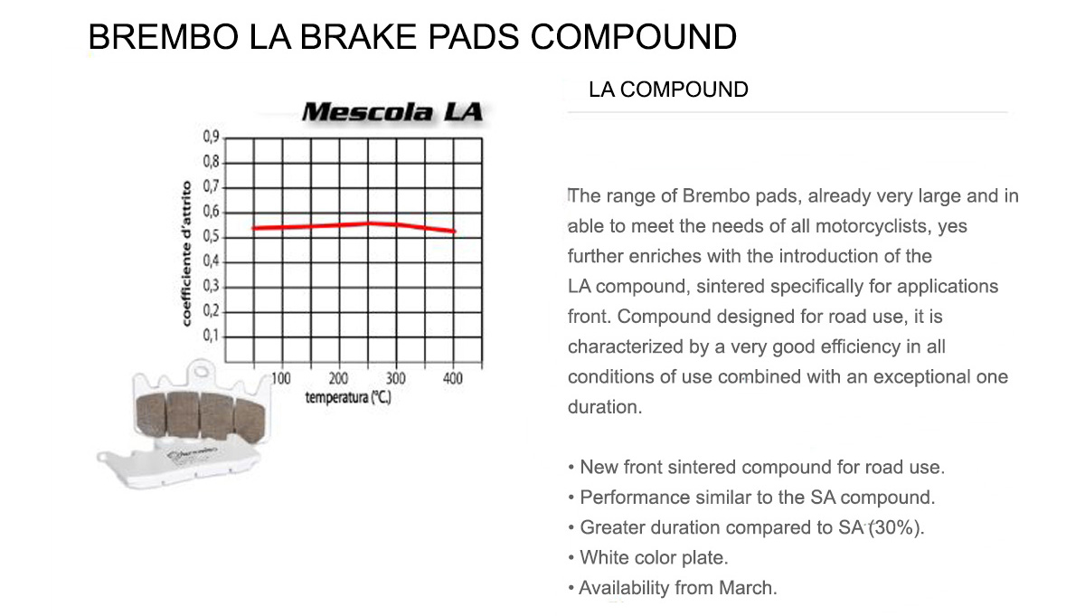 Front Brembo LA Brake Pads for Bmw F 750 GS 750 2018