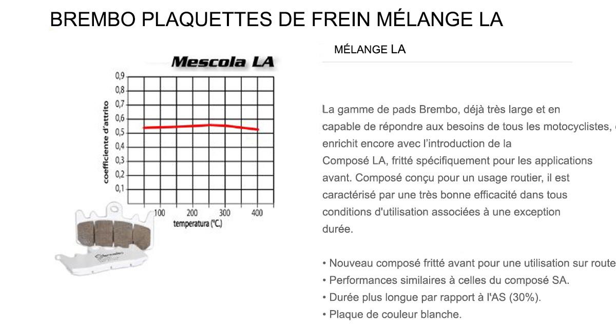 Plaquettes Brembo Frein Anterieures LA pour Bmw F 700 GS 700 2013 > 2015