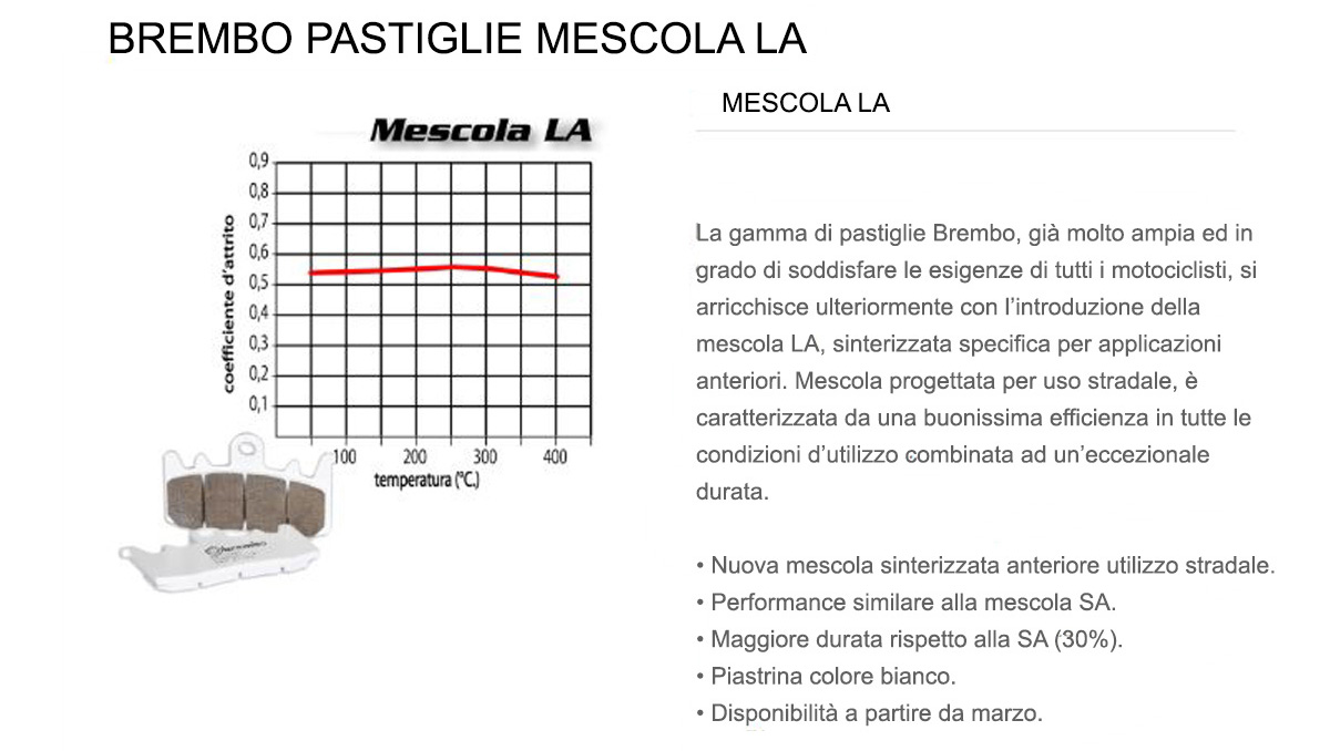 Pastiglie Brembo Freno Anteriori 07SU27.LA per Kawasaki Z (RAD. CAL) 1000 2010 > 2013