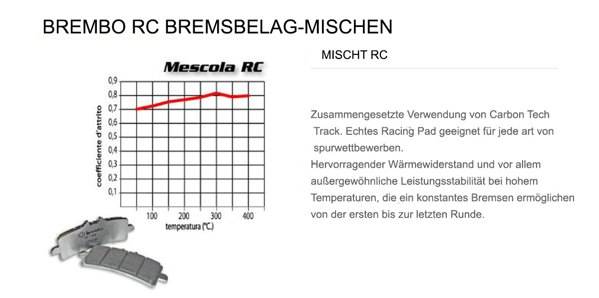 Vorderen Brembo RC Bremsbelage fur Tm SMR F 450 2004 > 2006