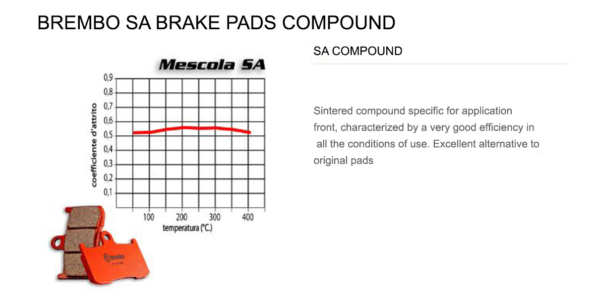 Front Brembo SA Brake Pads for Bmw F 650 GS 800 2008 > 2012
