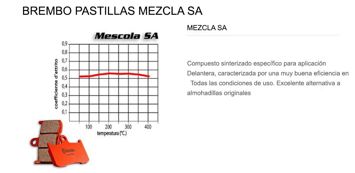 Pastillas Brembo Freno Delantero 07BB04SA para Ktm XC TPI 250 2018 > 2020