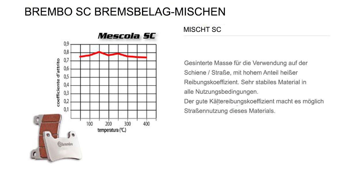 Vorderen Brembo SC Bremsbelage fur Tm SMR F 450 2004 > 2006