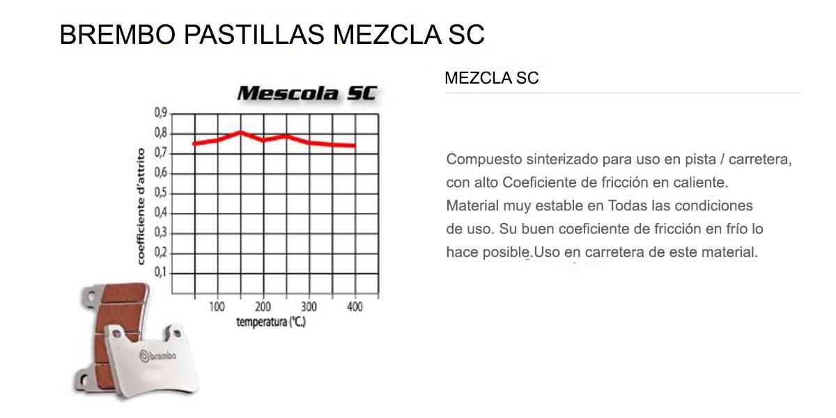 Pastillas Brembo Freno Delantero 07BB19SC para Ktm SUPER ADVENTURE S 1290 2017 > 2020