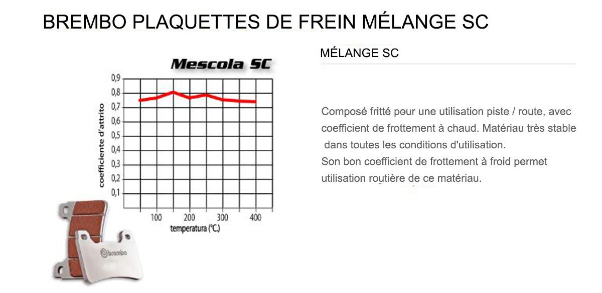 Plaquettes Brembo Frein Anterieures SC pour Alfer GR ENDURO 250 1988 > 1990
