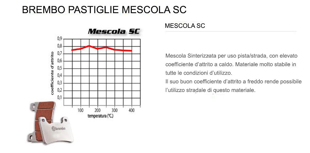 Pastiglie Brembo Freno Anteriori 07BB37.SC per Kawasaki NINJA H2 SX 998 2018