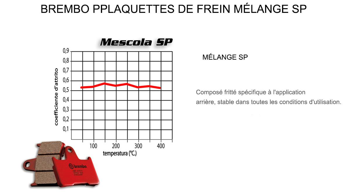 Plaquettes Brembo Frein Arriere SP pour Aeon OVERLAND 125 2002 > 2004