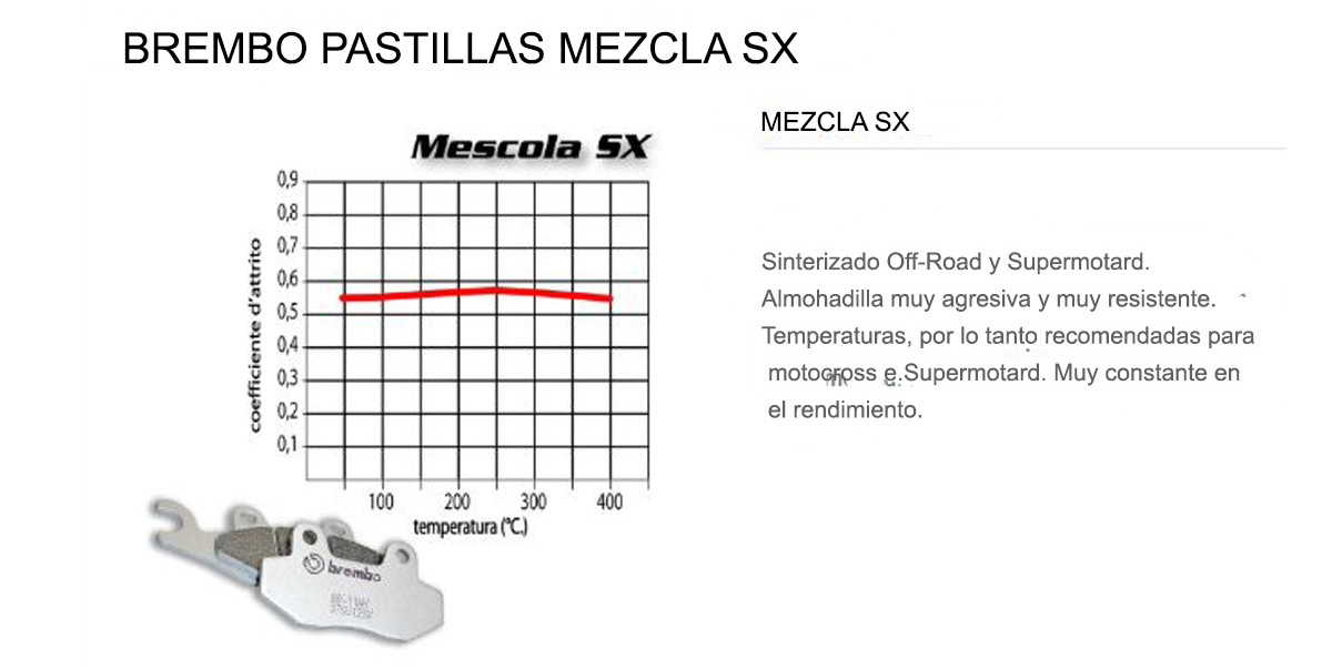 Pastillas Brembo Freno Delantero 07BB04SX para Ktm EXC-F SIX DAYS 500 2017 > 2020