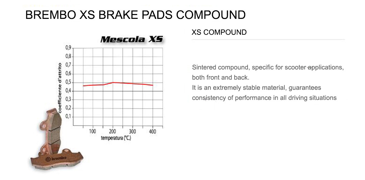 Rear Brembo XS Brake Pads for Kymco NEW DINK 200 2008 > 2010
