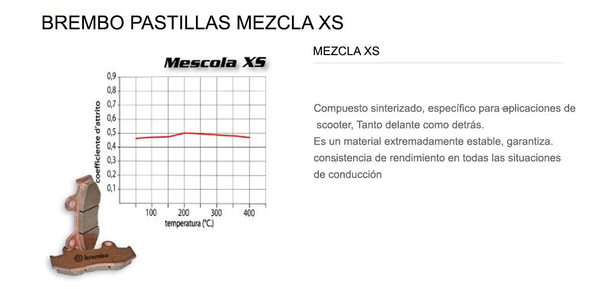 Pastillas Brembo Freno Delantero XS para Kymco PEOPLE SI left caliper 300 2008 > 2010