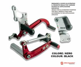Honda Crf 150 Motard Racing DISCACCIATI Rear Adjustable Footrests Silver Anodized PDR305N