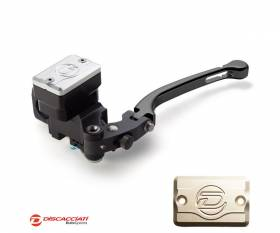 Radial Clutch Master Cylinder DISCACCIATI D.19 with Rectangular Tank BLACK Lever  Champagne Tank