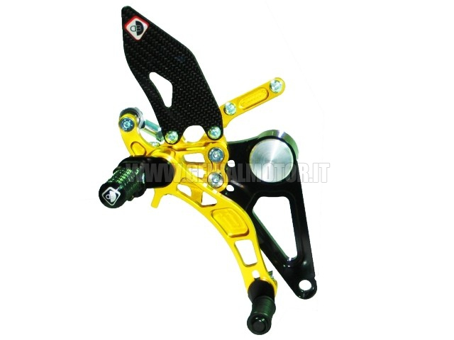 PRM01DB Ducabike Prm01db Pedane Regolabili Nero - Oro