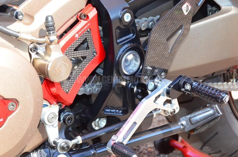 PRM1201DE Ducabike Prm1201de Pedane Regolabili M821 - 1200 Nero - Silver