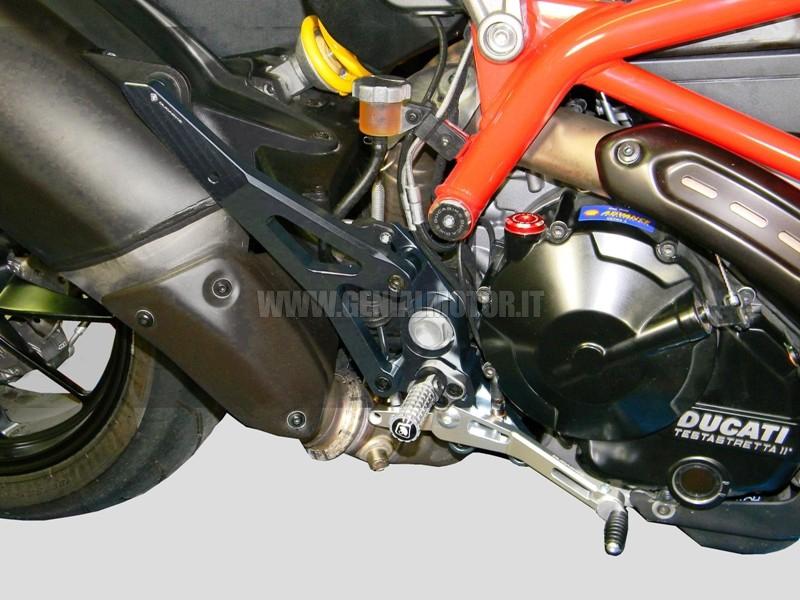 PRNHM01DE Ducabike Prnhm01de Pedane Hypermotard 821 Nero - Silver