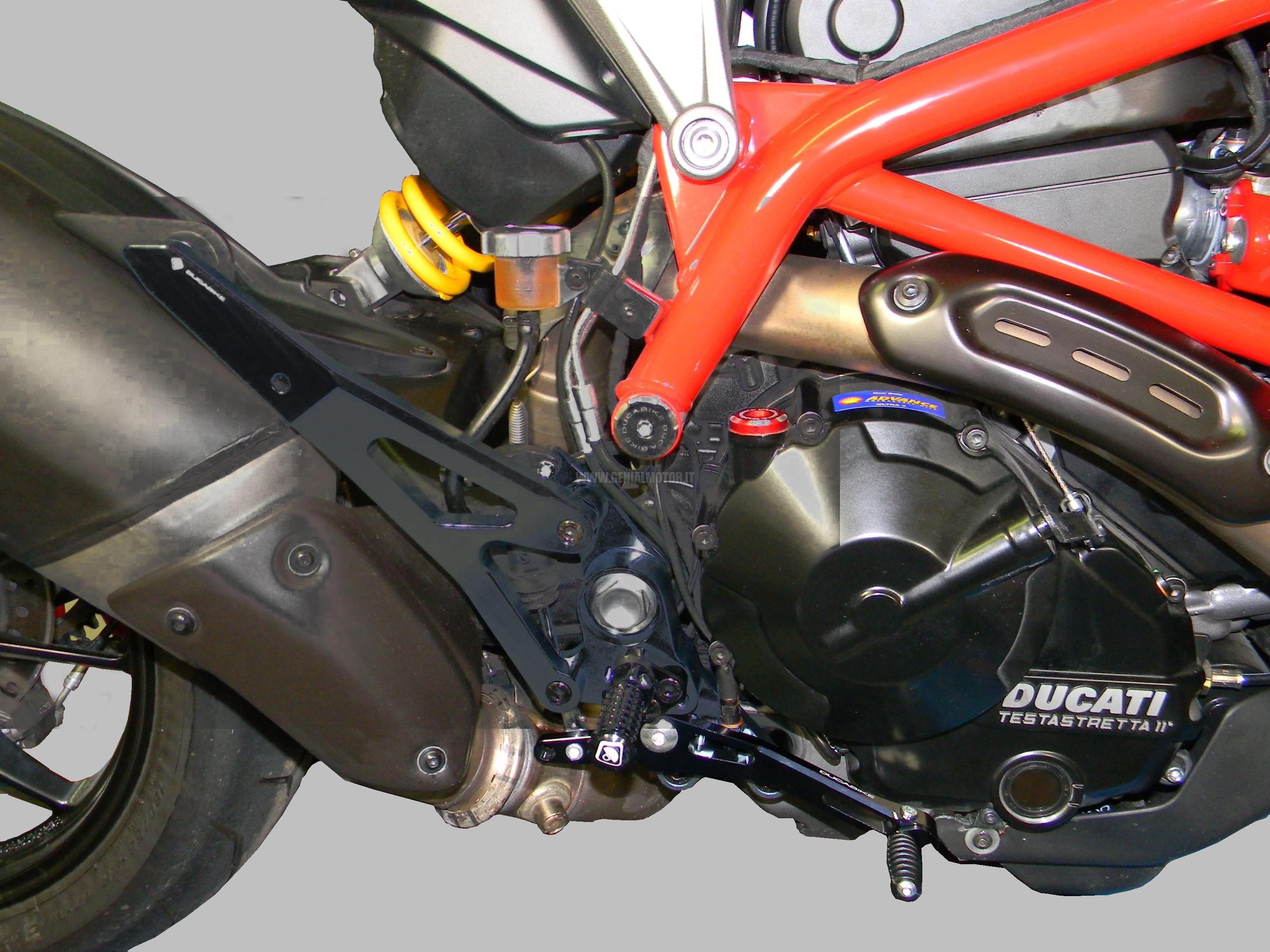 PRNHME01DD Ducabike Prnhme01dd Pedane Hypermotard 821 Nero
