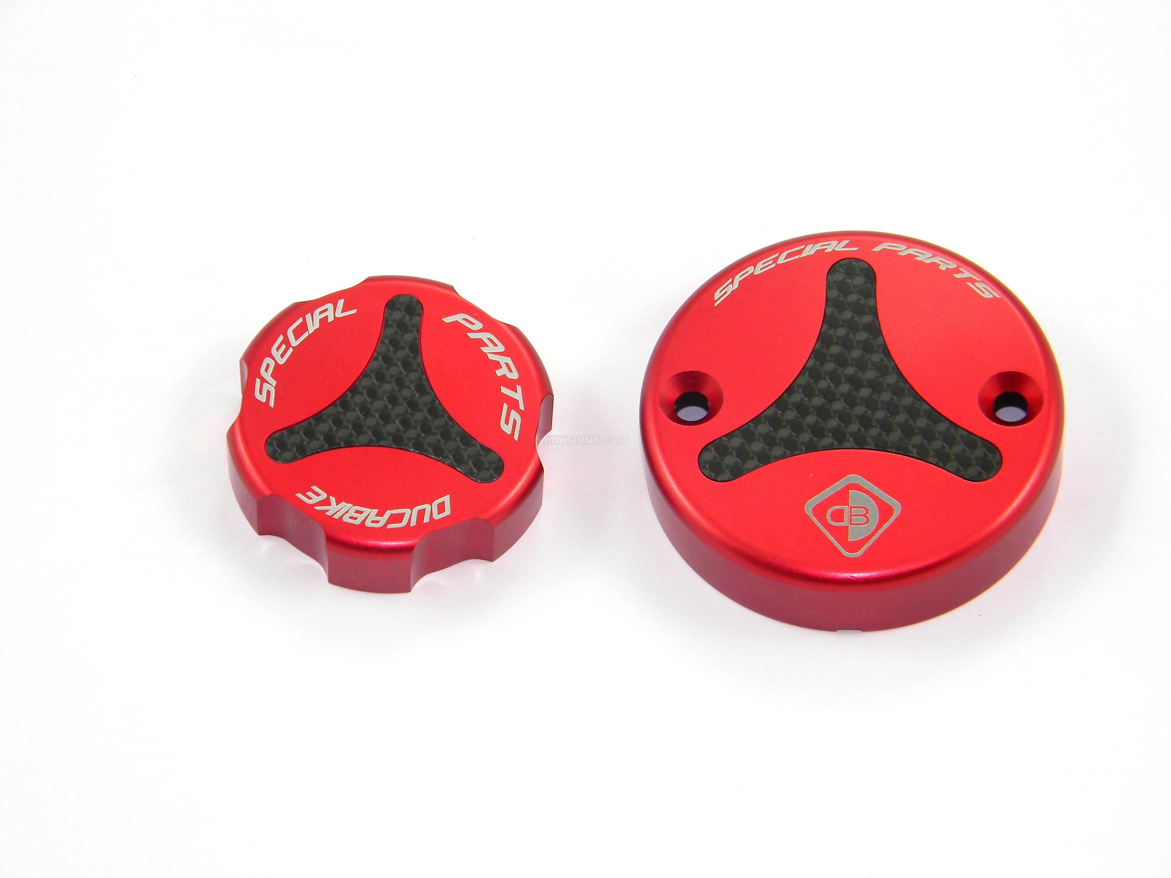 Ducabike Tls01a Tappi Serbatoio Liquidi Rosso