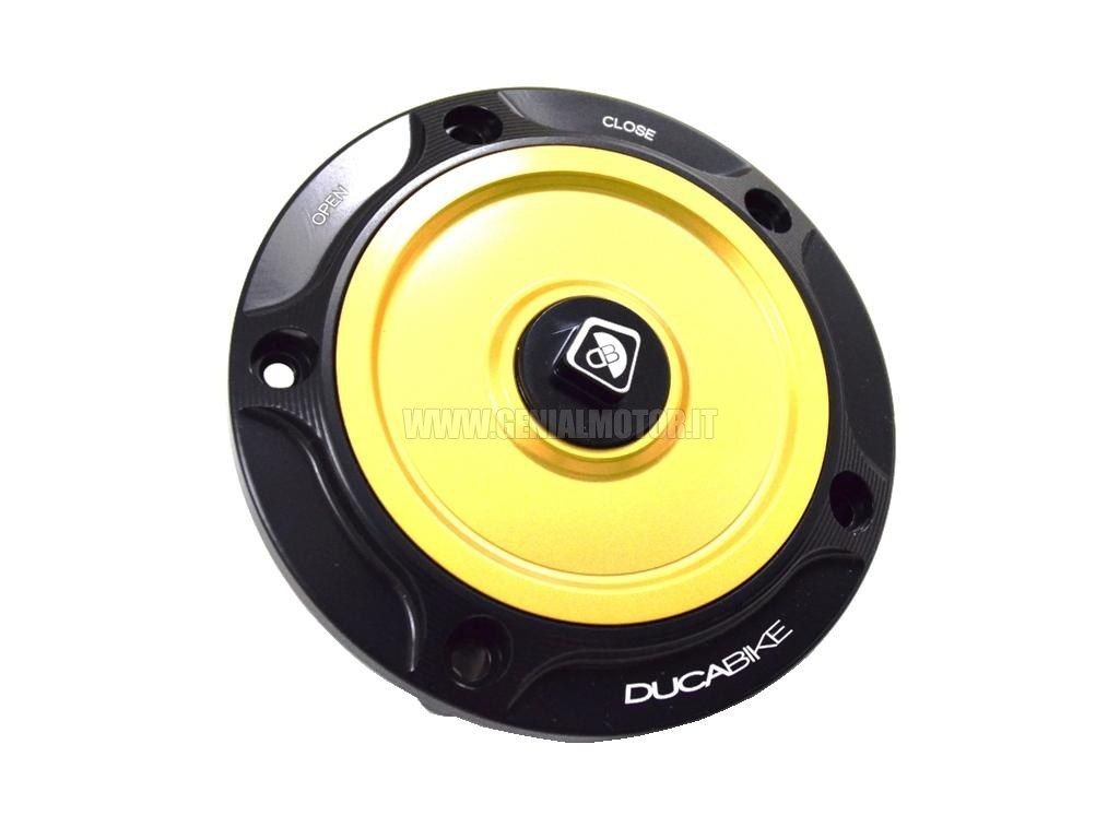 Ducabike Tsb06db Tappo Serbatoio Benzina Nero - Oro