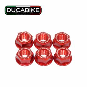 Crown Flange Nuts Kit Red 6DSB01A Ducabike Ducati Panigale V2 2020 > 2021