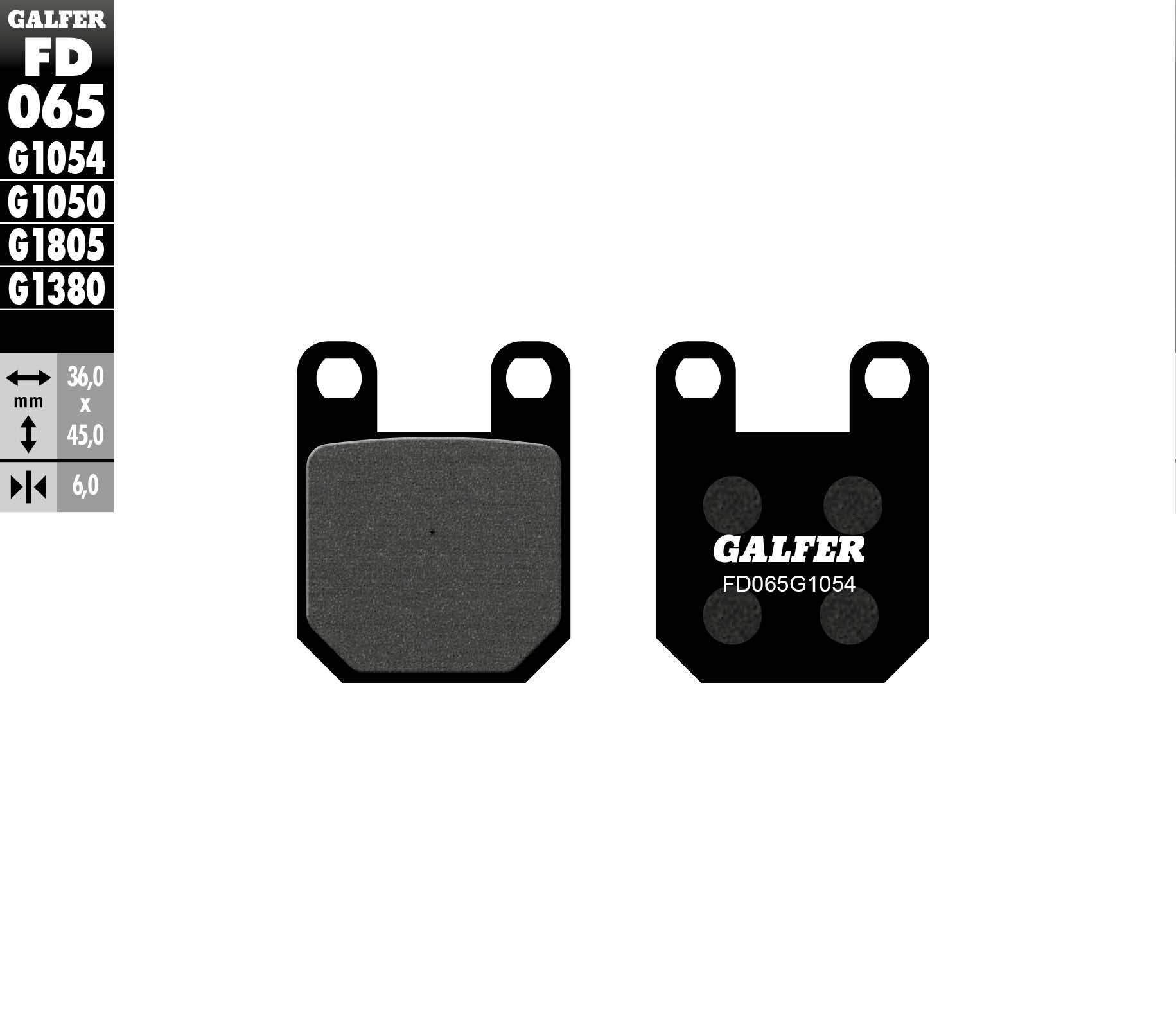 GALFER PLAQUETTES FREINS ARRIERE PEUGEOT LOOXOR 2002 FD065