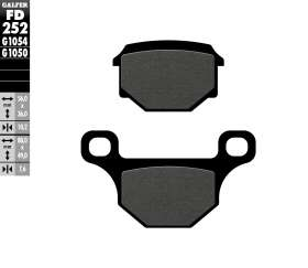 Galfer Front Brake Pads Sigma Colombia Sg 150-8  Fd252