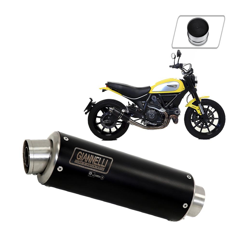 73555XP + 70506CT Exhaust Giannelli Black Inox X-Pro + Catalyst Ducati Scrambler 800 2015 > 2016